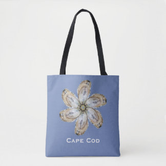 Oyster Tote Bag - Design A on Blue