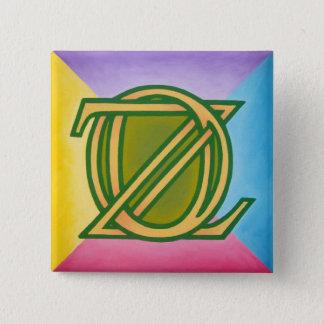 Oz Pinback 2 Inch Square Button