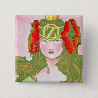 Oz Pinback - Ozma 2 Inch Square Button