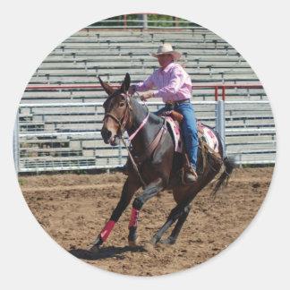 ozark mule days classic round sticker