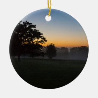 Ozarks August Dawn Ceramic Ornament