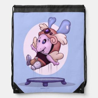OZEL ALIEN FUN CARTOON  Drawstring Backpack