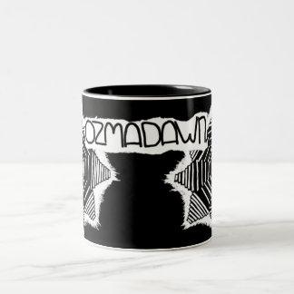 ozmadawn black on white Two-Tone mug