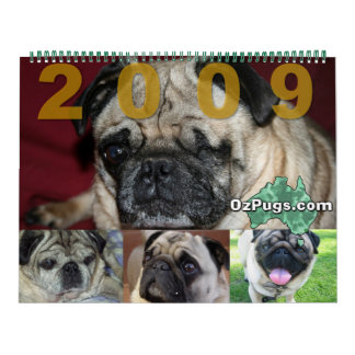 OzPugs 2009 Huge Calendar