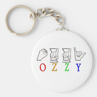 OZZY FINGERSPELLED ASL NAME SIGN KEY CHAIN