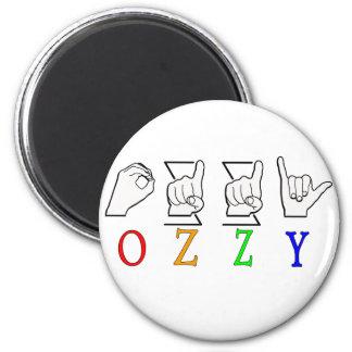 OZZY FINGERSPELLED ASL NAME SIGN MAGNET