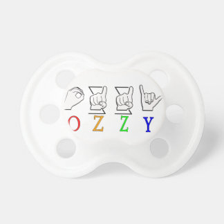 OZZY FINGERSPELLED ASL NAME SIGN PACIFIER