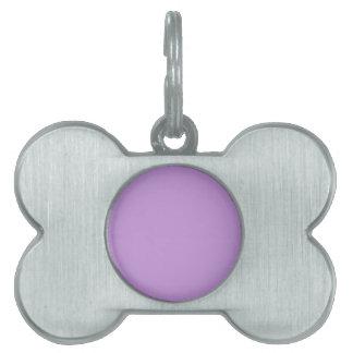 P07 Enchantingly Exquisite Purple Color Pet Name Tag
