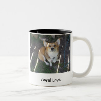 P1010220, Corgi Love, Corgi lovePhotography by ... Two-Tone Coffee Mug