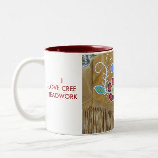P1210004,   ILOVE CREEBEADWORK Two-Tone COFFEE MUG