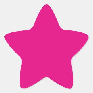 P22 Love That Magenta! Pink Color Star Sticker