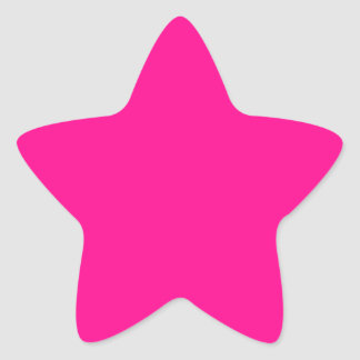 P23  Passion For Pink! Magenta Color Star Sticker