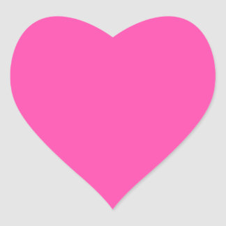P25 Fancy That Magenta! Pink Color Heart Sticker