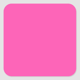P25 Fancy That Magenta! Pink Color Square Sticker