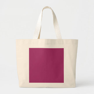 P29  Harmoniously Optimistic Magenta Pink Color Large Tote Bag