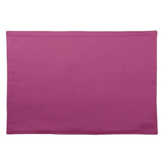 P29  Harmoniously Optimistic Magenta Pink Color Placemat