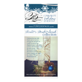 P2 Weddings Winter Wonderland Decorating Package Rack Card