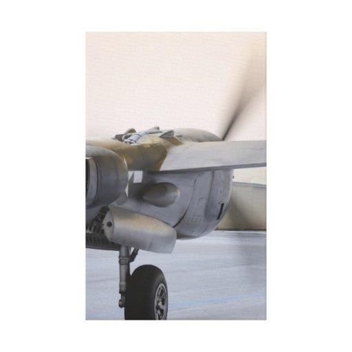 P38 Powering Up Canvas Print