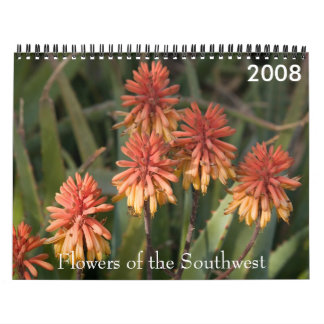 P4079331-LR-1, Flowers of the Southwest, 2008 Wall Calendars