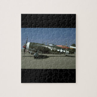 P47, Left View._WWII Planes Puzzles