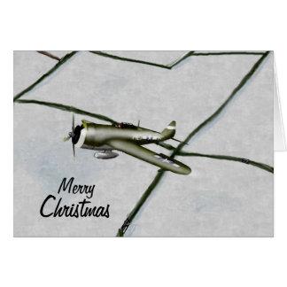 P47 Thunderbolt Christmas Card