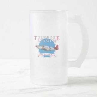 P47C Tuskegee  Thunderbolt Frosted Glass Beer Mug