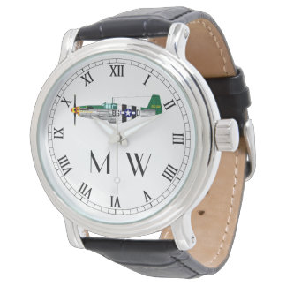 P51 Mustang | Monogrammed classic plane Watch
