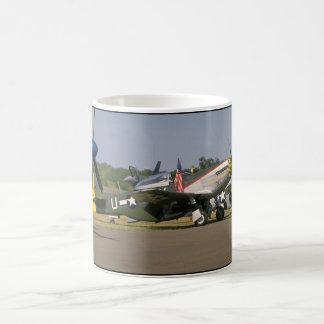 P51 Mustang, Side View.(runway)_WWII Planes Coffee Mug