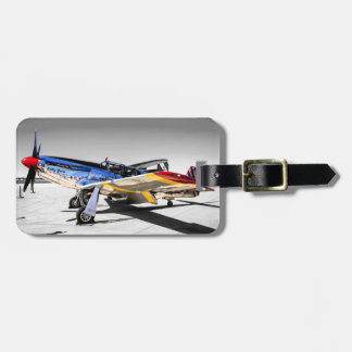 P51C Mustang WWII Fighter Plane Luggage Tag