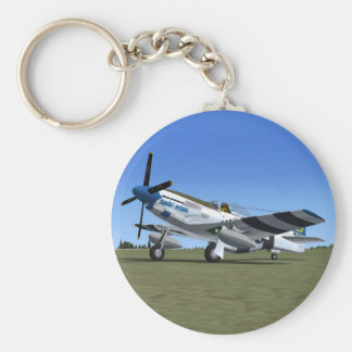 P51Mustang WW2 Fighter Plane Keychain