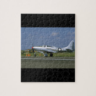 P63 King Cobra, Silver, Left Side_WWII Planes Puzzles