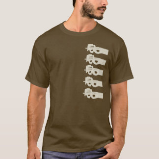P90 = Split Melons - Tan Graphics T-Shirt