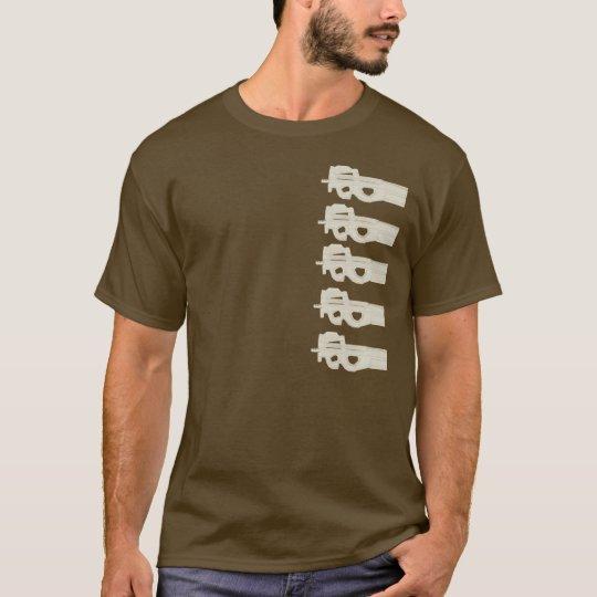 P90 = Split Melons - Tan Graphics T-Shirt