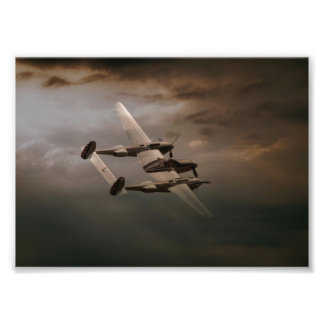 P-38 In The Pacific.jpg Photographic Print