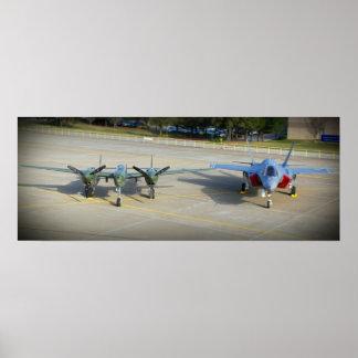 P-38 Lightning and  F-35 Lightning II Poster