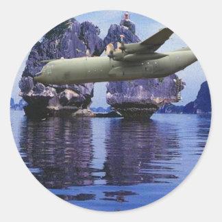 P-3 Orion Over Viet Nam Classic Round Sticker
