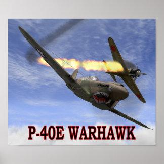 P-40 WARHAWK vs A6M2 ZERO POSTER