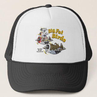 P-47 thunderbolt in formation trucker hat