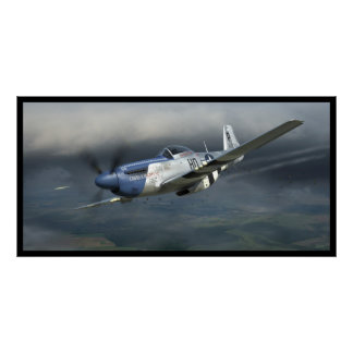 """P-51 D Mustang """"Cripes A'Mighty 3rd"""" Poster"""
