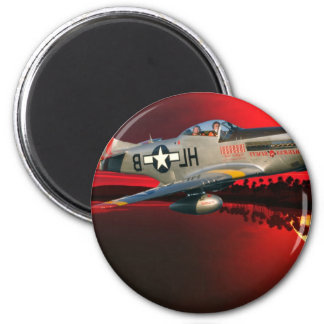 P-51 MUSTANG 2 INCH ROUND MAGNET