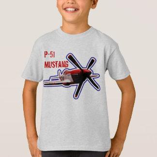 P-51 Mustang Airplane Shirt - Kids