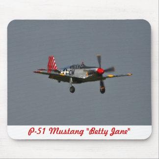 P-51 Mustang Betty Jane Mousepad