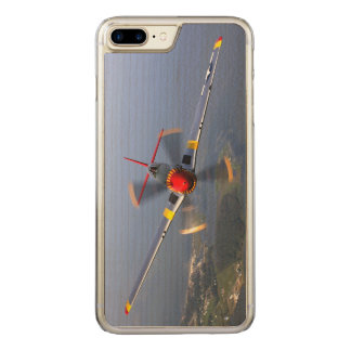 P-51 Mustang Fighter Aircraft Carved iPhone 7 Plus Case