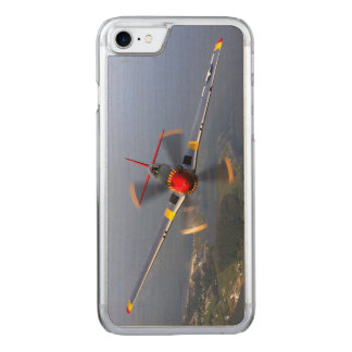 P-51 Mustang Fighter Aircraft Carved iPhone 8/7 Case