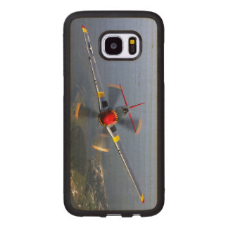 P-51 Mustang Fighter Aircraft Wood Samsung Galaxy S7 Edge Case