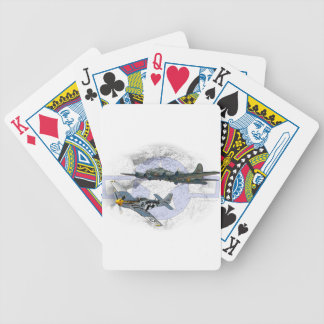 P-51 Mustang flying escort Bicycle Playing Cards
