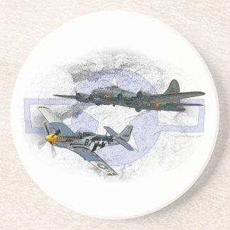 P-51 Mustang flying escort Coaster