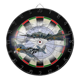 P-51 Mustang flying escort Dartboard