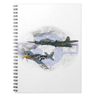 P-51 Mustang flying escort Notebook