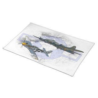 P-51 Mustang flying escort Placemat